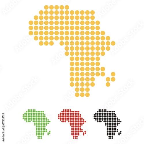 Africa Map Dot Design Illustration Stock image and royaltyfree