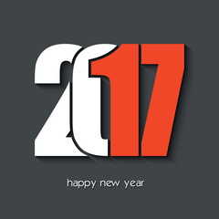 2017 Happy new year creative design for card, poster
