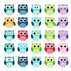 Different Owls Collection