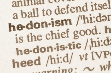Dictionary definition of word hedonism