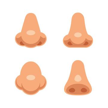 Cartoon noses set