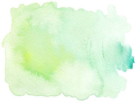 plain green tones watercolor textures background