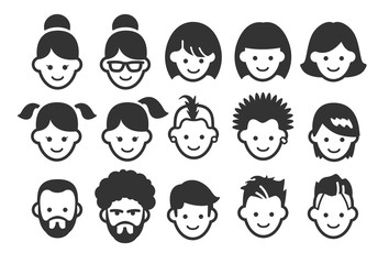 Stock Vector Illustration: Avatar icons 1