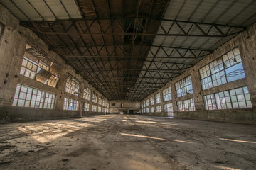 Old factory, rubber factory, China
