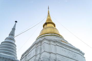 Thai Golden Pagodawit blue sky