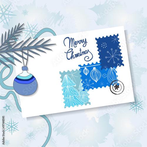 Шаблон постера новогодних подарков