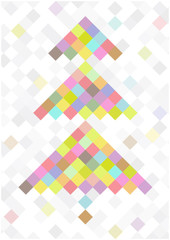 color vector tree of squares