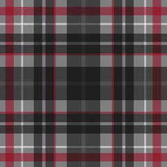 Vector seamless scottish tartan pattern in grey, red, black and white