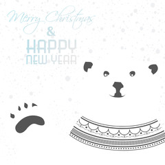 Greeting card with polar bear
