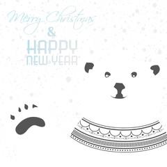Greeting card with polar bear