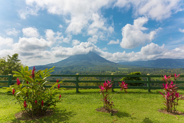 View of the Arenal Volcano from observation point, Costa Rica