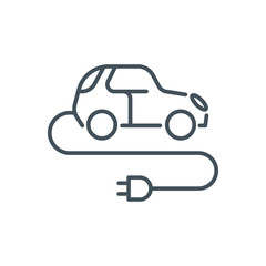 Electric, green energy car icon