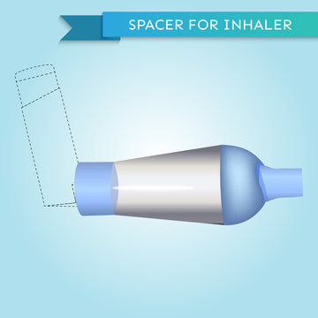 Spacer for inhaler in vector
