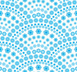 Vector abstract background of snowflakes arranged shaped blue.