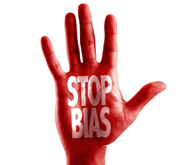 Stop Bias written on hand isolated on white background