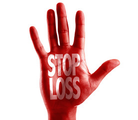 Stop Loss written on hand isolated on white background