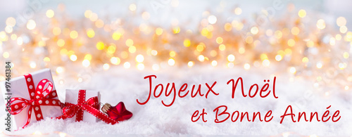 joyeux noel et bonne annee weihnachtskarte franz sisch. Black Bedroom Furniture Sets. Home Design Ideas