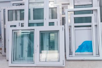 Set of plastic UPVC windows, ready to install