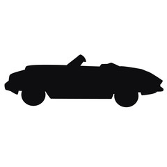 Silhouette of car on a white background