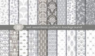 Vector damask seamless pattern background.pattern swatches included for illustrator user, pattern swatches included in file, for your convenient use.