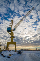 The Dock and cranes.