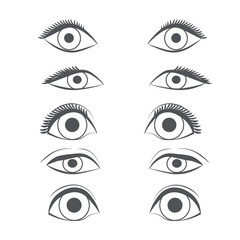 pattern eye cartoon line sketch shape  design abstract illustration