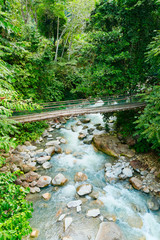 Borneo, Malaysia - a mountain stream in rainforest (Kinabalu National Park)