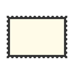 black postage stamp template