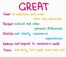 Great approach customer service