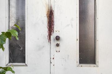 alte Tür aus Metall