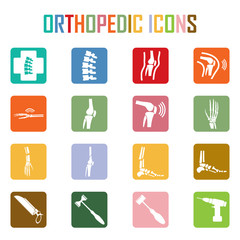Orthopedic and spine symbol - vector illustration, Collection Hu
