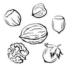 Nuts Black Pictograms