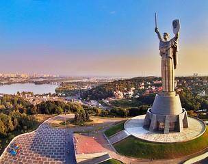 Fotobehang Kiev Motherland, Kiev