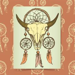Sketch bizon and windcatcher