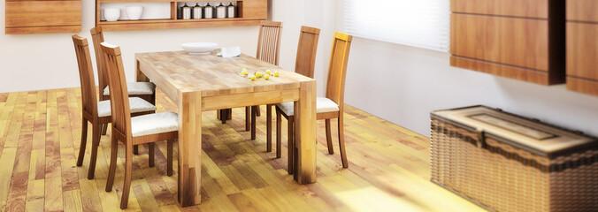 Tischgruppe Holz
