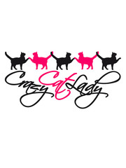 crazy cat lady cat text logo design crazy funny saying