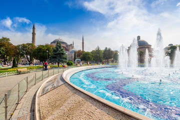 Fountain near Sophia basilica museum in Istanbul