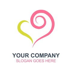 Hearts Love Vector Icon Logo