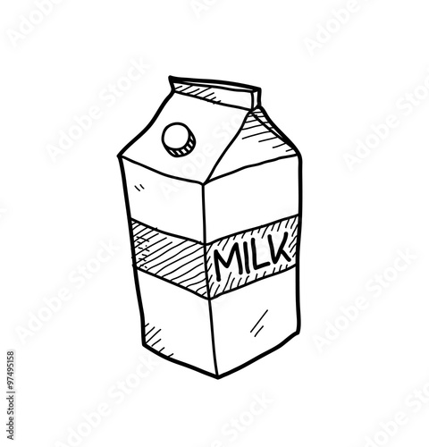 milk carton doodle a hand drawn vector doodle illustration of a rh fotolia com milk carton line drawing simple milk carton drawing