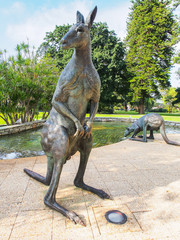Kangaroo Sculptures on St George's Terrace, Perth Australia