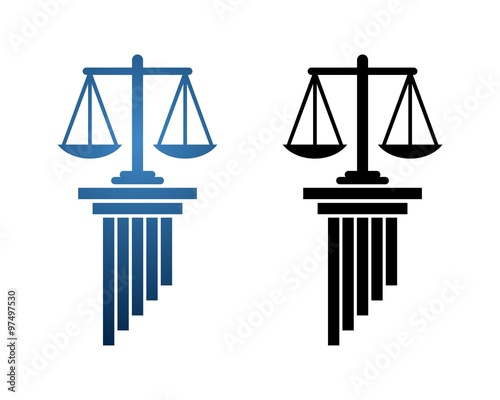 pillar scale of justice logo stock image and royalty free vector rh fotolia com scales of justice logo clip art scale of justice logo on accessrories