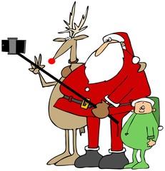 Santa's new selfy stick