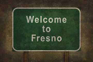 Welcome to Fresno roadside sign illustration