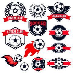 football  emblems set.