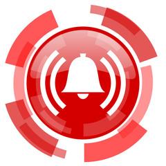 Obraz alarm red glossy web icon - fototapety do salonu