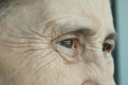 Occhi di signora anziana