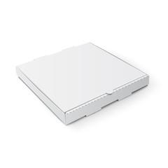 Pizza box isolated on white background