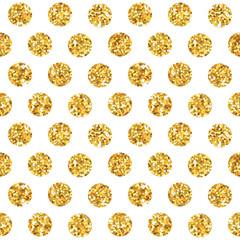 Golden Geometry Glitter Background - seamless pattern
