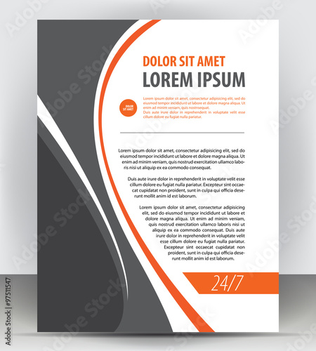 Magazine, Flyer, Brochure And Cover Layout Design Print Template, Pamphlet  Vector Letter Format  Pamphlet Layout Template
