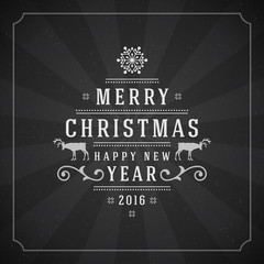Merry Christmas Greetings Card or Poster Design